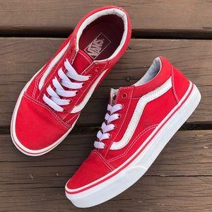 Vans Red Old Skool Kids Sneakers
